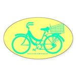 70s/80s Colours Bike Sticker (Oval)