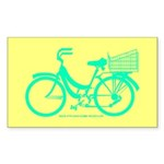 70s/80s Colours Bike Sticker (Rectangle)
