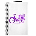 Purple Bike with Basket Journal