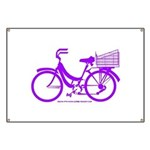 Purple Bike with Basket Banner