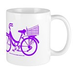 Purple Bike with Basket Mug