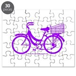 Purple Bike with Basket Puzzle