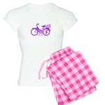 Purple Bike with Basket Women's Light Pajamas