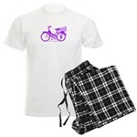 Purple Bike with Basket Men's Light Pajamas