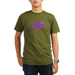 Purple Bike with Basket Organic Men's T-Shirt (dar