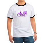 Purple Bike with Basket Ringer T