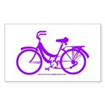 Purple Bike - Awesome! Sticker (Rectangle)