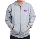 Purple Bike - Awesome! Zip Hoodie