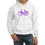 Purple Bike - Awesome! Hooded Sweatshirt