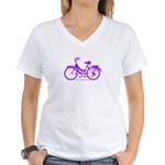 Purple Bike - Awesome! Women's V-Neck T-Shirt