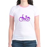Purple Bike - Awesome! Jr. Ringer T-Shirt