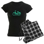 Teal Bicycle Sans basket Women's Dark Pajamas