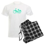 Teal Bicycle Sans basket Men's Light Pajamas