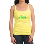 Teal Bicycle Sans basket Jr. Spaghetti Tank