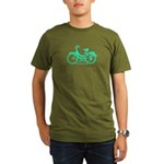 Teal Bicycle Sans basket Organic Men's T-Shirt (da