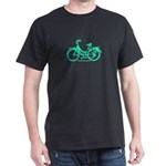 Teal Bicycle Sans basket Dark T-Shirt