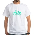 Teal Bicycle Sans basket White T-Shirt