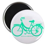 Teal Bicycle Sans basket Magnet