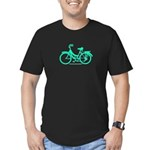 Teal Bicycle Sans basket Men's Fitted T-Shirt (dar