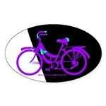 Bicycling Cyclists Sticker (Oval)