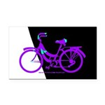 Bicycling Cyclists Rectangle Car Magnet