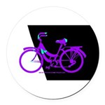Bicycling Cyclists Round Car Magnet