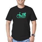 Cycling Cyclists - Teal Bike Men's Fitted T-Shirt