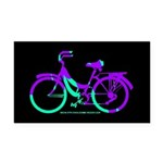 80s Style Bicycling Stivker Rectangle Car Magnet