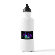80s Style Bicycling Stivker Water Bottle