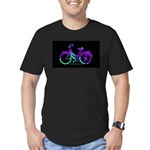 80s Style Bicycling Stivker Men's Fitted T-Shirt (