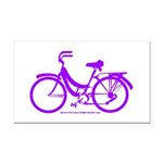 Purple Bike - Awesome! Rectangle Car Magnet