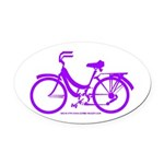 Purple Bike - Awesome! Oval Car Magnet