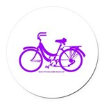 Purple Bike - Awesome! Round Car Magnet