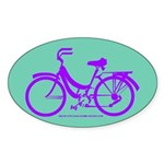 Bike Design 80s/90s Colors Sticker (Oval)