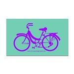 Bike Design 80s/90s Colors Rectangle Car Magnet