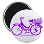 Purple Bike with Basket Magnet