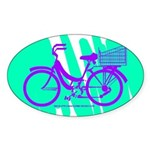 Mamachari Decal 80s Wave Sticker (Oval)