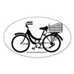 Bicycle Decal with basket Sticker (Oval)