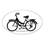 Bike Design Sans Basket Sticker (Oval)
