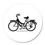 Bike Design Sans Basket Round Car Magnet
