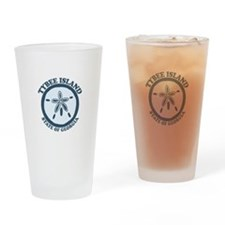 Tybee Island GA - Sand Dollar Design. Drinking Gla