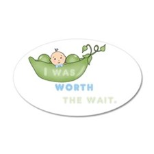 worth the wait - boy - Oval Wall Decal
