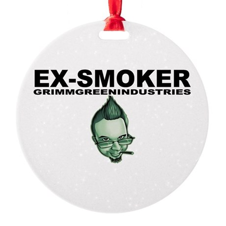 Ex-Smoker Round Ornament