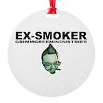 Ex-Smoker Round Ornament