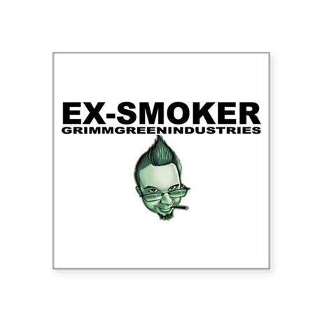 "Ex-Smoker Square Sticker 3"" x 3"""