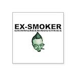 "Ex-Smoker Square Sticker 3"" x 3"""