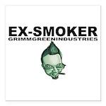 """Ex-Smoker Square Car Magnet 3"""" x 3"""""""