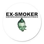 Ex-Smoker Round Car Magnet