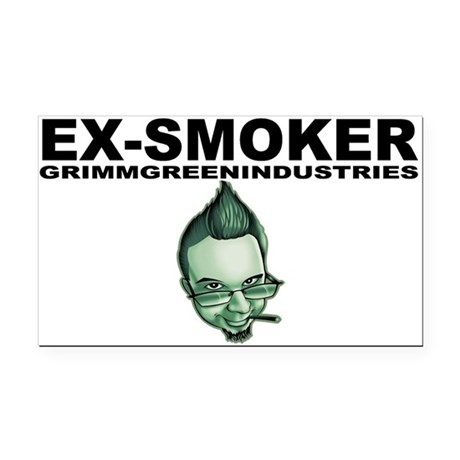 Ex-Smoker Rectangle Car Magnet