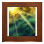 Cloudy Skies Framed Tile